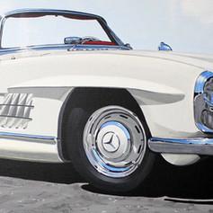 Bill's Mercedes 300SL - acrylic on canvas - 12 x 36 in.