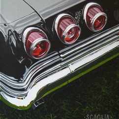 Brake Light Sinfonia - acrylic on canvas 12 x 9 in.