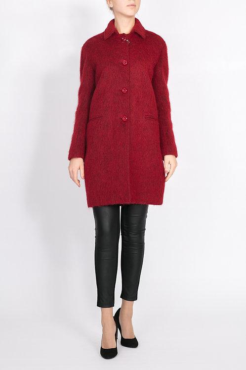 Теплое пальто из альпака