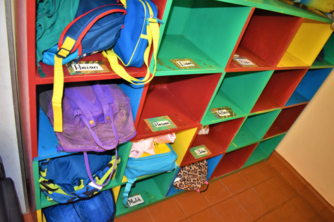 Each child gets to keep their bag safely while at school
