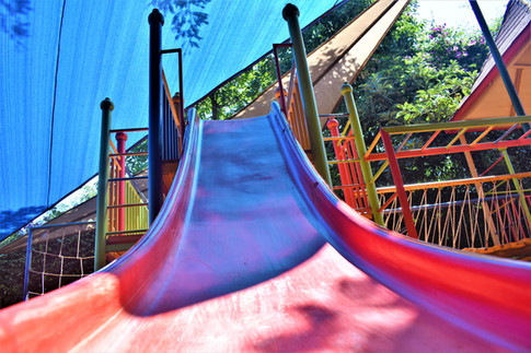 Slide to encourage play time