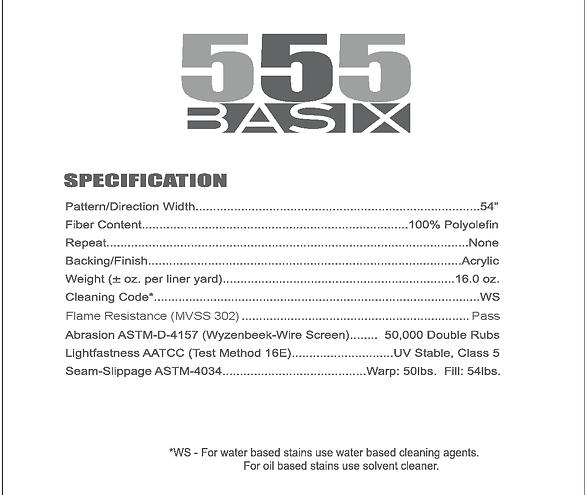 555 Basix Specification Info
