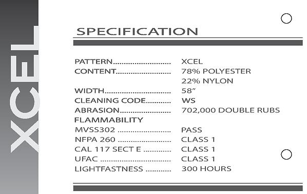 HSM Transportation - XCEL Fabric Specification