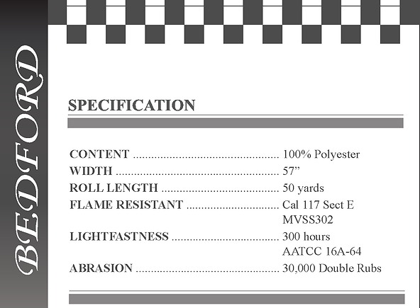 Bedford Specifications
