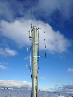 Aerials on New Pole - Cardrona Valley