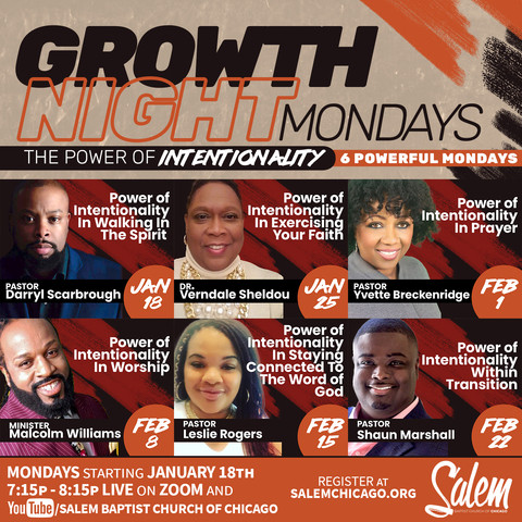 Growth Night Mondays