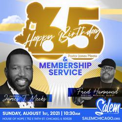 Birthday + Membership Service