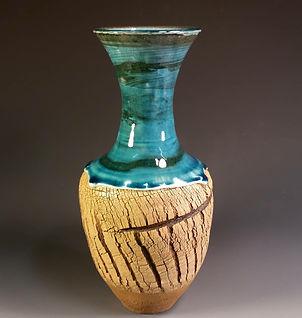 Delores Hayes - Hayes. Blue Textured Vas