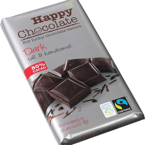 Dark chocolate with 85% cocoa, Organic and Fairtrade, 180g
