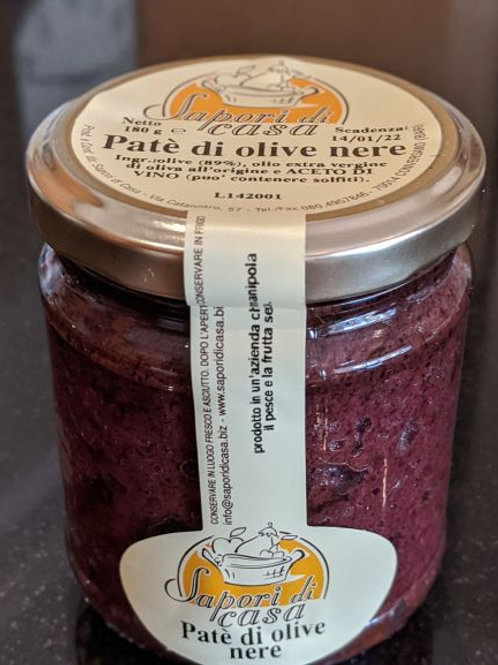 Black olive pate, tapenade, with Extra Virgin Olive Oil, 180g