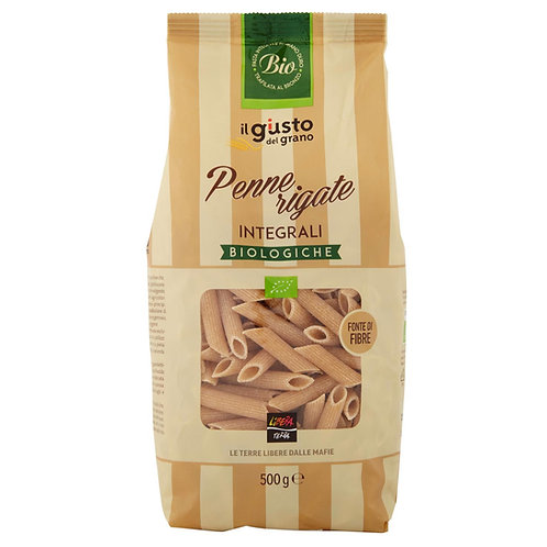 Wholemeal Penne Pasta, Organic, 500g