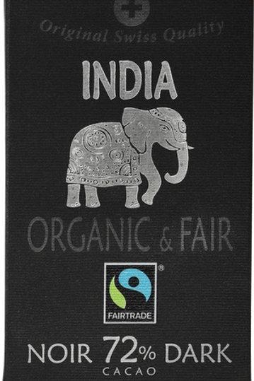 Organic Dark 72% cocoa, India, 70g