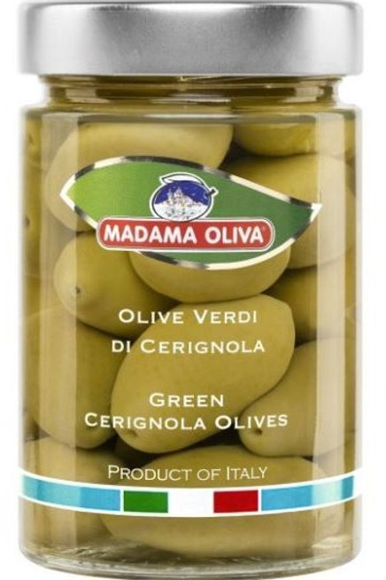 "Green ""Cerignola"" olives in Brine, 300g, no pitted"