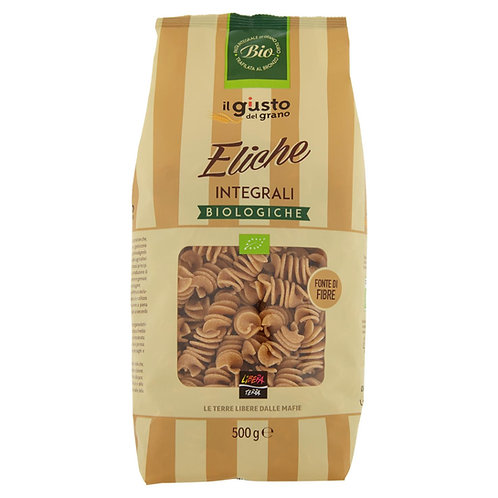 3 packs of Wholemeal Pasta, Organic, 1.5kg