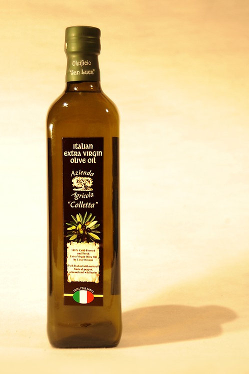 1lt Glass Bottle of Olivieri's Extra Virgin Olive Oil