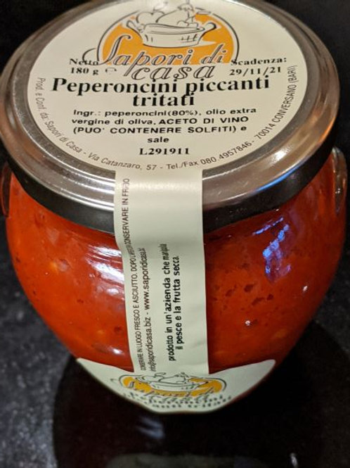 Chilli pate with Extra Virgin Olive Oil, 180g