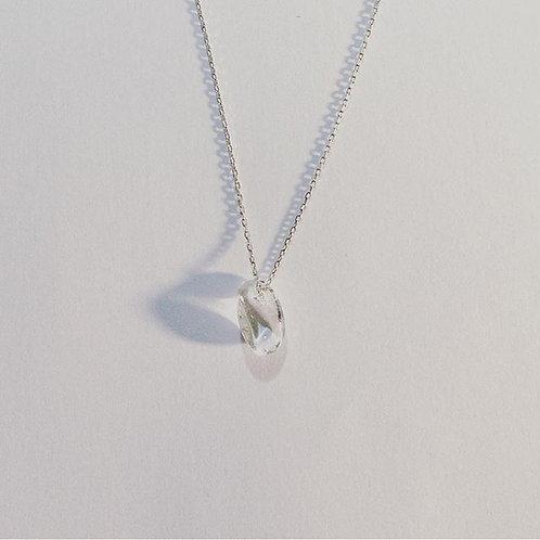 Collier en argent°Goutte de cristal du roche
