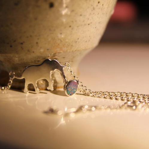 éléphant opale Bracelet en argent