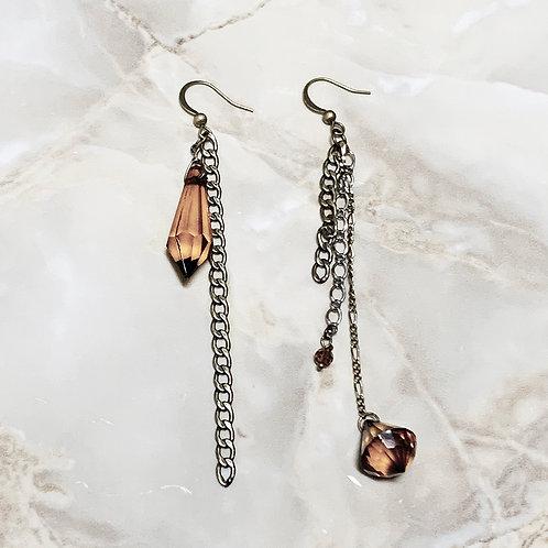 Boucles d'oreilles°Brown chandelier N°2