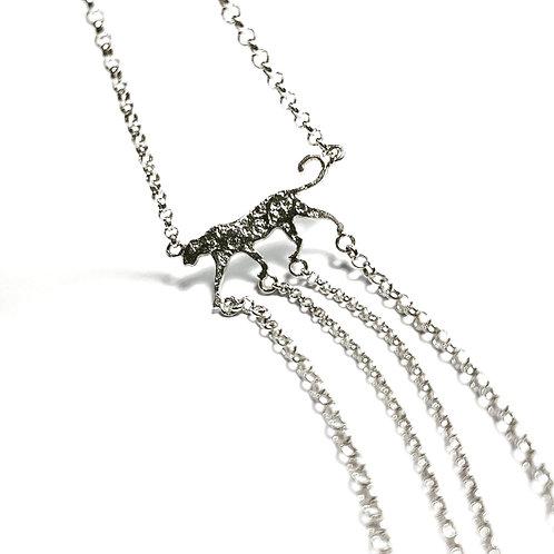 Bracelet en argent°Slow walking leopard