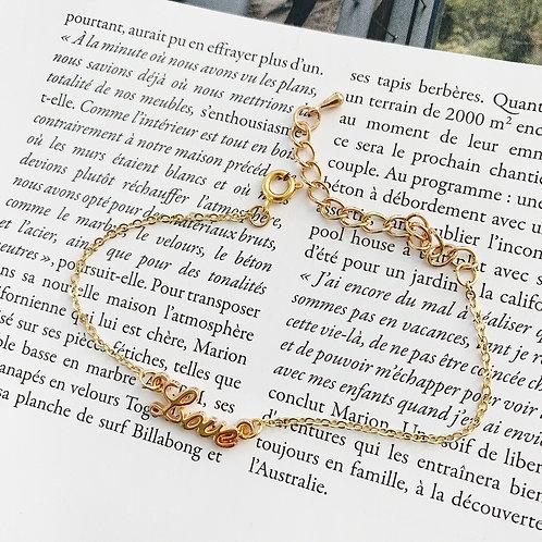 Bracelet doré°love combi