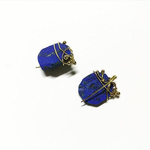 Boucles d'oreilles°romanesque lapis lazuli