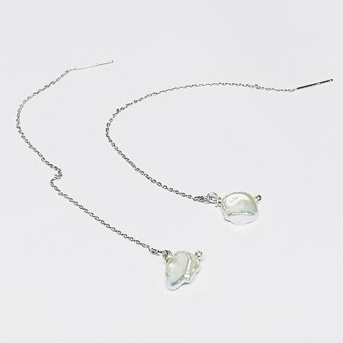 Boucles d'oreilles°baroque pearl rain