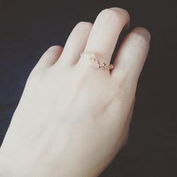 #2 #deuxieme #perleduculture #rose #plaqueorrose #pink #goldplate #반지 #분홍 #진주 #bijoux #jewelry #pièc