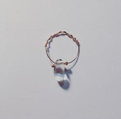 Goutte d'eau #waterdrop #물방울 #gouttedeau #cristal #bijoux #rosegold #plated  #paris #jewelry #bague