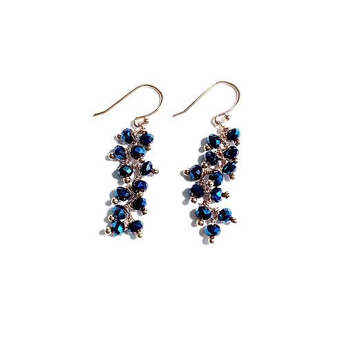 Boucles d'oreilles°Salvia metal blue party