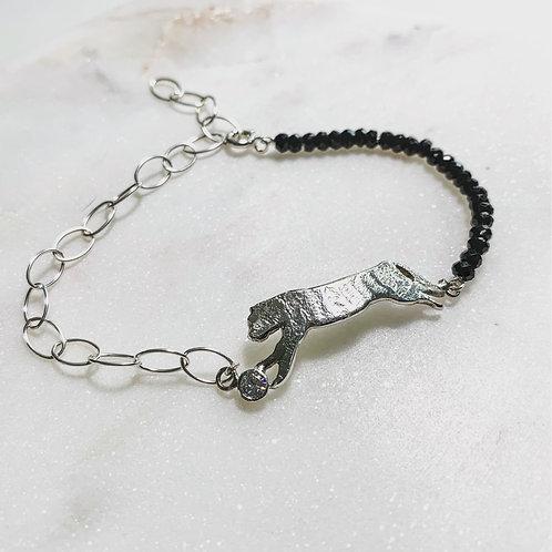 Bracelet en argent spinelles°Tigre & Noir