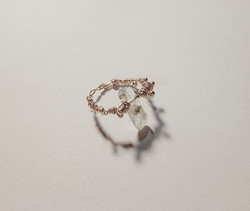 #quartz #paris #jewelry #bijoux #orrose #plaquéor #rosegold #pinkgold #plate #ring #bague #pierrenat
