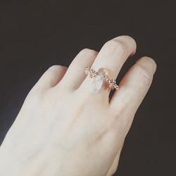 #quartz #brut #pierre #naturelle #ring #bague #naruralstone #orrose #plaquéor #rosegold #plate #bijo