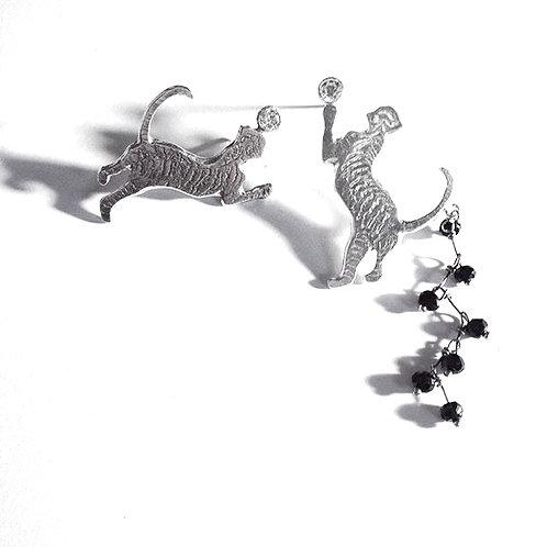 Tigre&noir jouons_boucles d'oreilles
