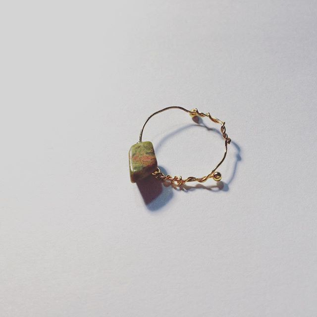 #bague #jewelry #bijoux #ring #pierrenaturelle #pierredabricotier #natualstone