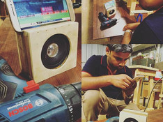 Lately Pratik was busy in making his personalised speaker box at our workshop, its completely ready now.jpg