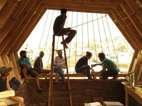 Team of #makersadda making wooden structure #makersgonamake  #alagangle