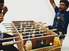 #foosball  made at #makersadda #makermantra  #wood #ply #steel #totalfun #makersgonamake  #iamamaker