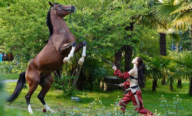 Фотосессия с лошадьми в Конном театре парка Ривьера