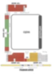 Схема зала Конного театра парка Ривьера