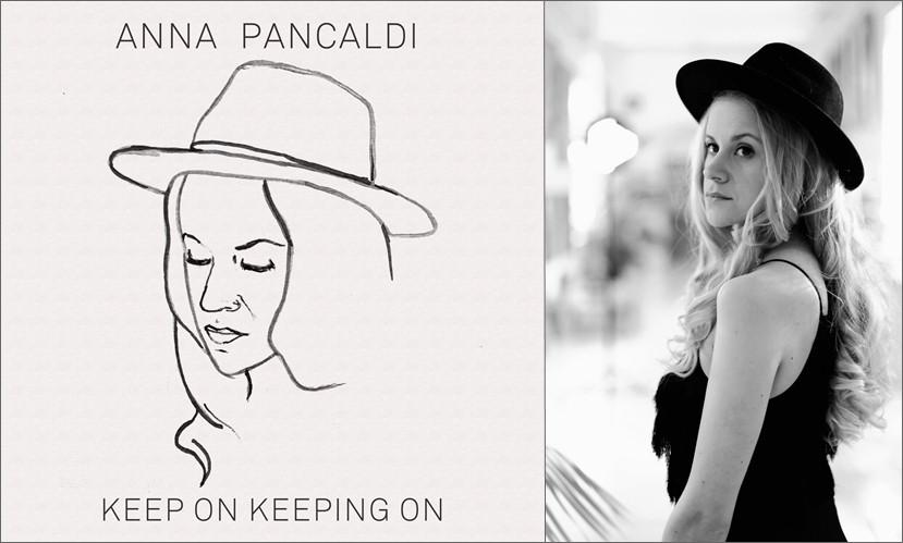 "Anna Pancaldi ""Keep On Keeping On"" single artwork and press photo"