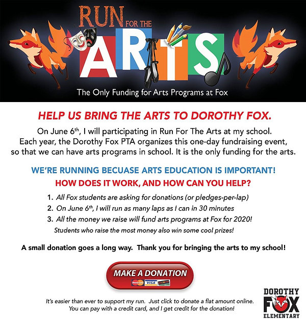 Run for the Arts Donation Email Banner_2
