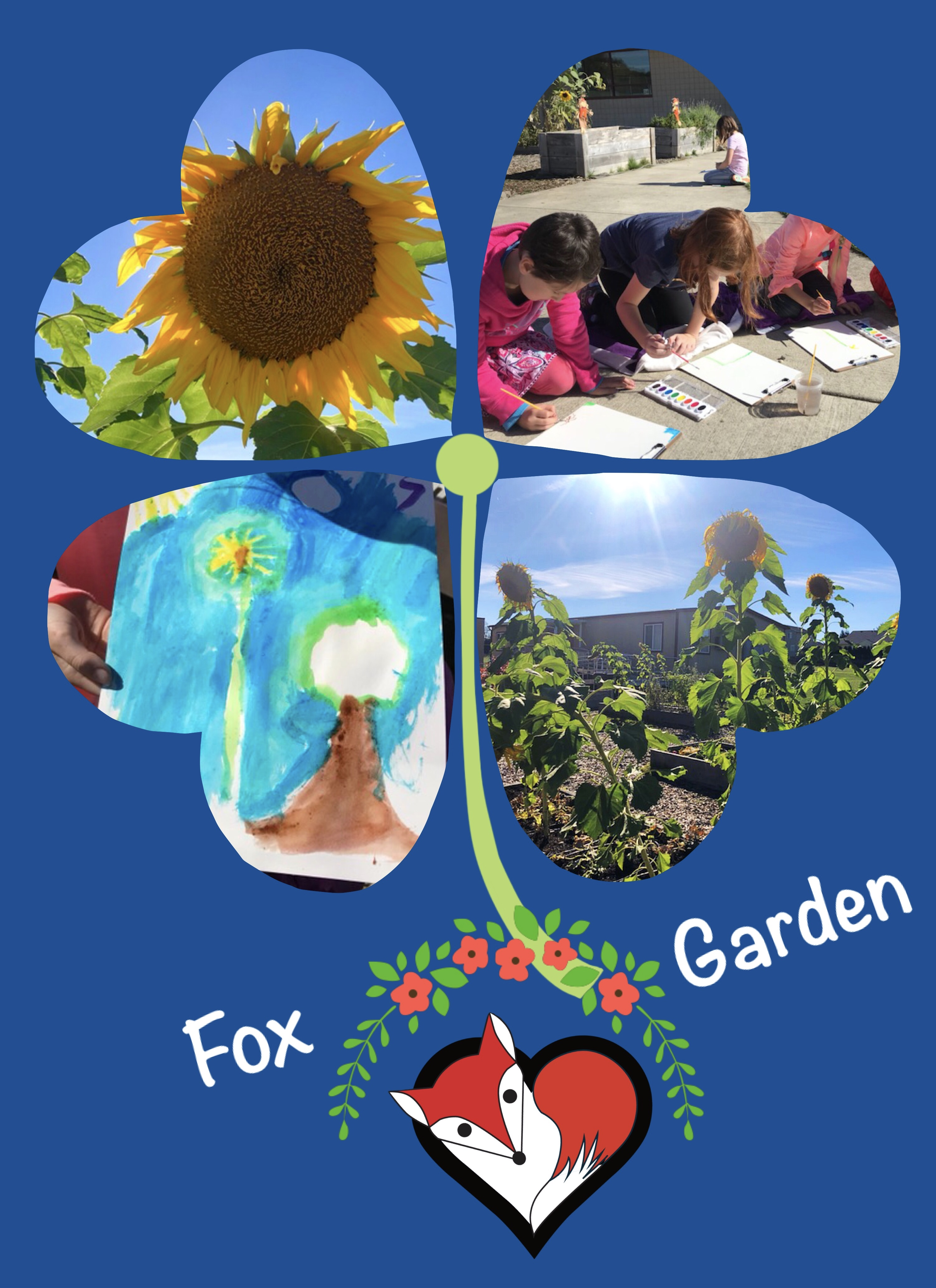 garden suflower painting