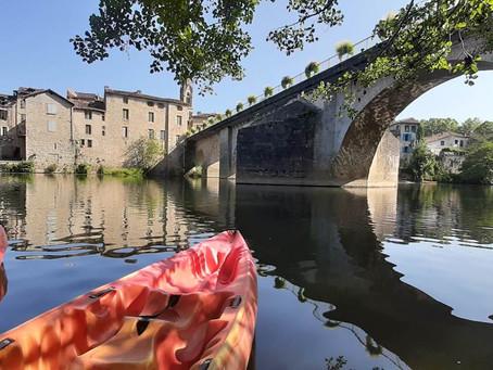 Kayaking at L'Aveyron