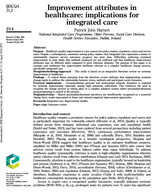 Improvement Attributes in Healthcare: Implications for Integrated Care.