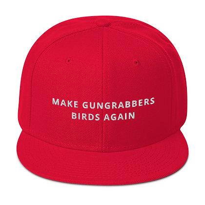Make Gungrabbers Birds Again Snapback Hat (Red or Black)