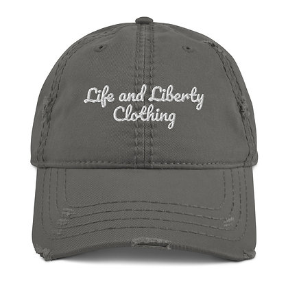 L&L Clothing Brand Distressed Dad Hat (Black or Charcoal)
