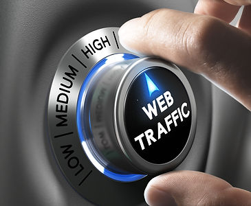 Web traffic button pointing high positio
