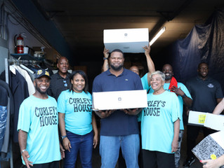 VERNON CAREY FOUNDATION PROVIDING THANKSGIVING MEALS TO CURLEY'S HOUSE