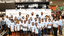 Vernon Carey Foundation Hosts 41 Kids For Sneaker Shopping Spree